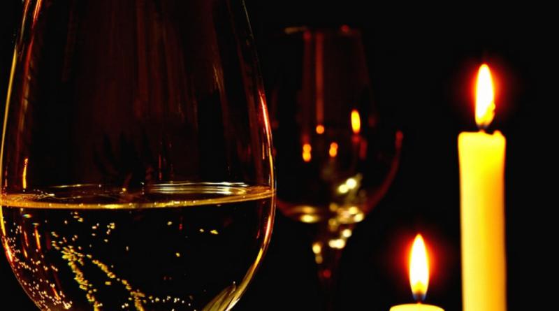 romantisk aften med lysestager